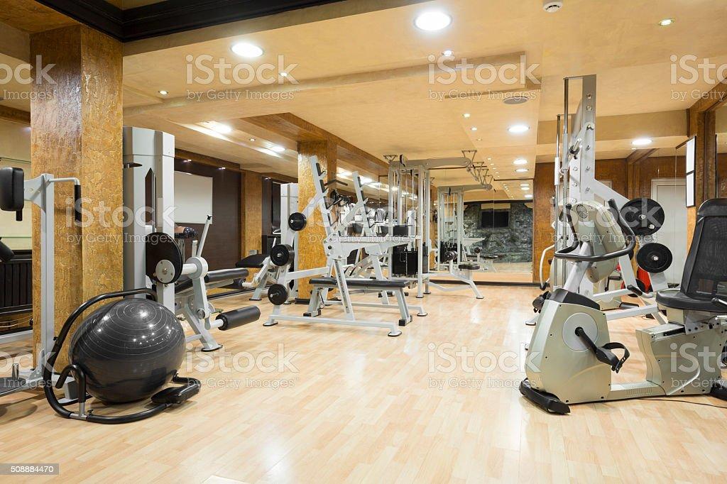 Interior of a modern gym stock photo