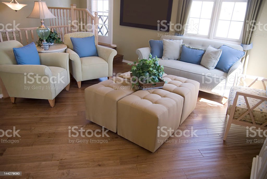 Interior of a modern home with chairs and a sofa royalty-free stock photo