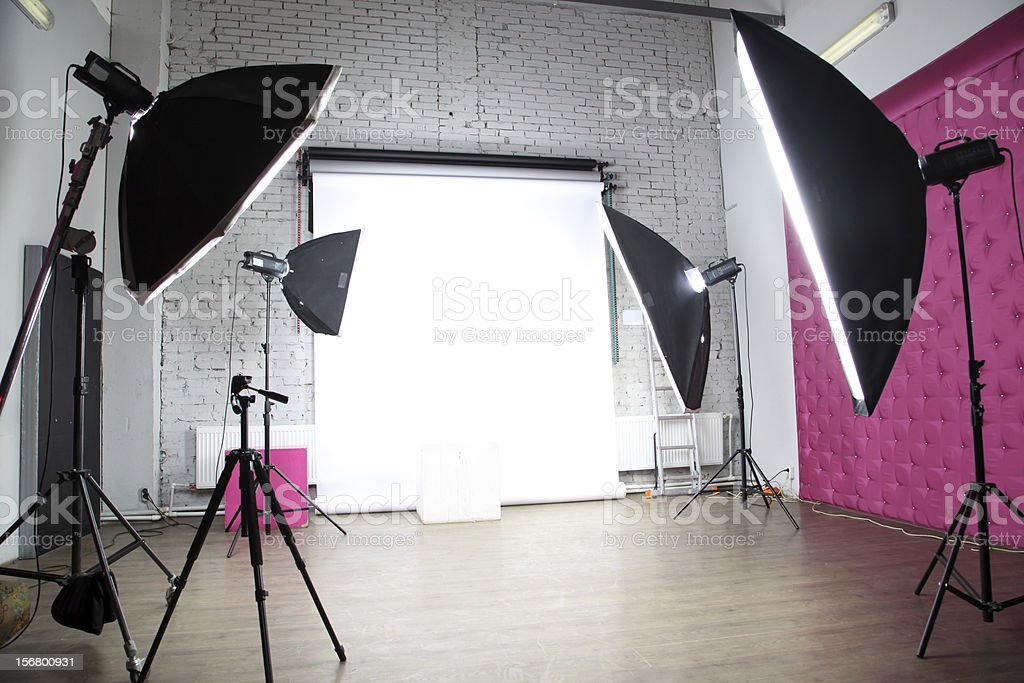 interior of a modern photo studio stock photo