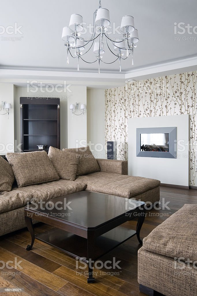 Interior of a new living room royalty-free stock photo