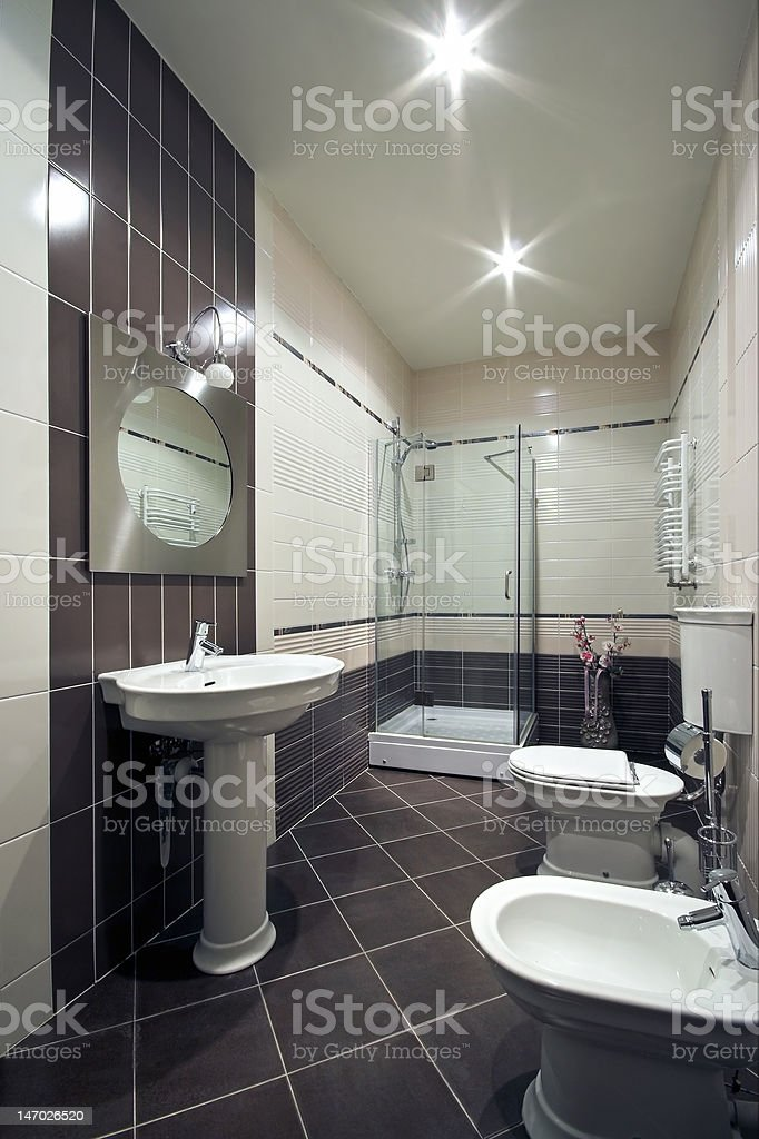 Interior of a new modern domestic room royalty-free stock photo