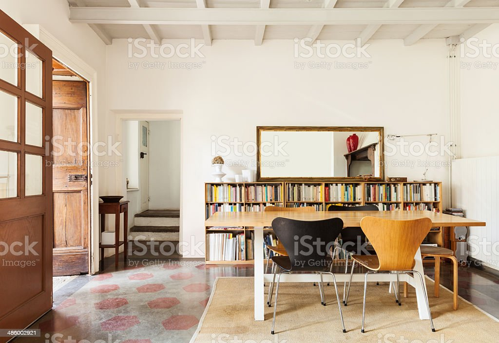 interior of a nice loft stock photo