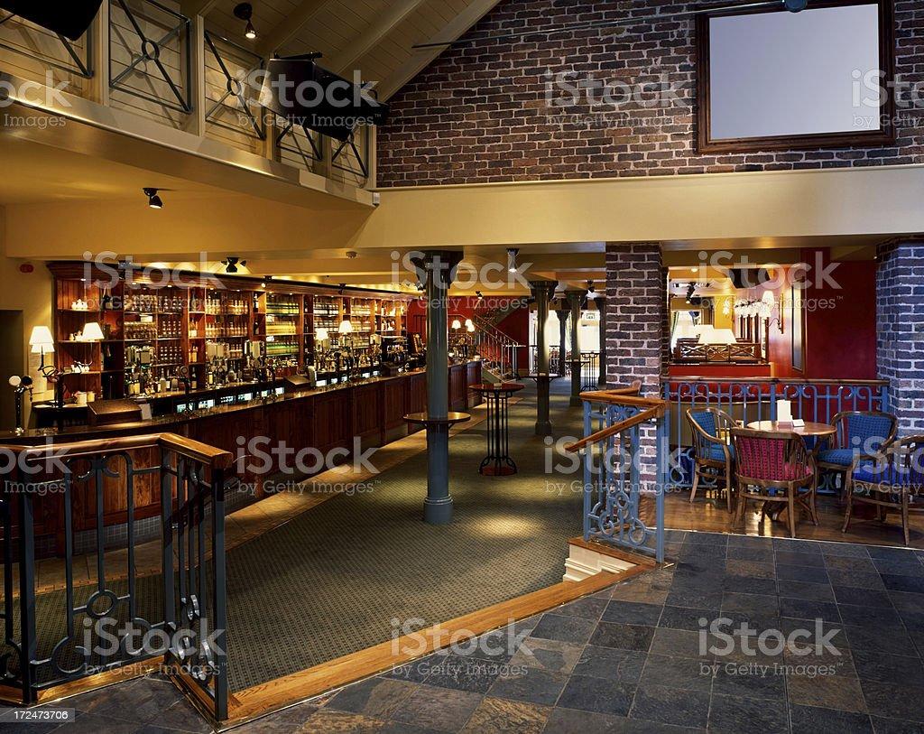 Interior of a night club stock photo