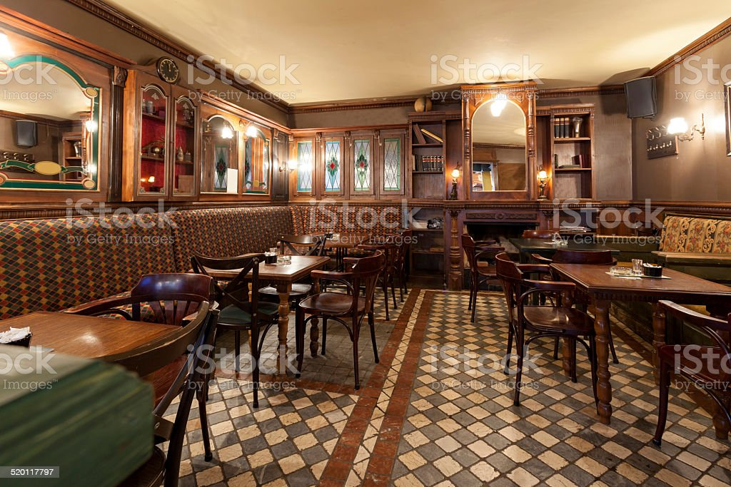 Interior of a pub stock photo