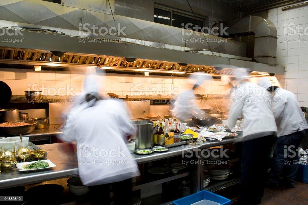 Interior of a restaurant kitchen stock photo