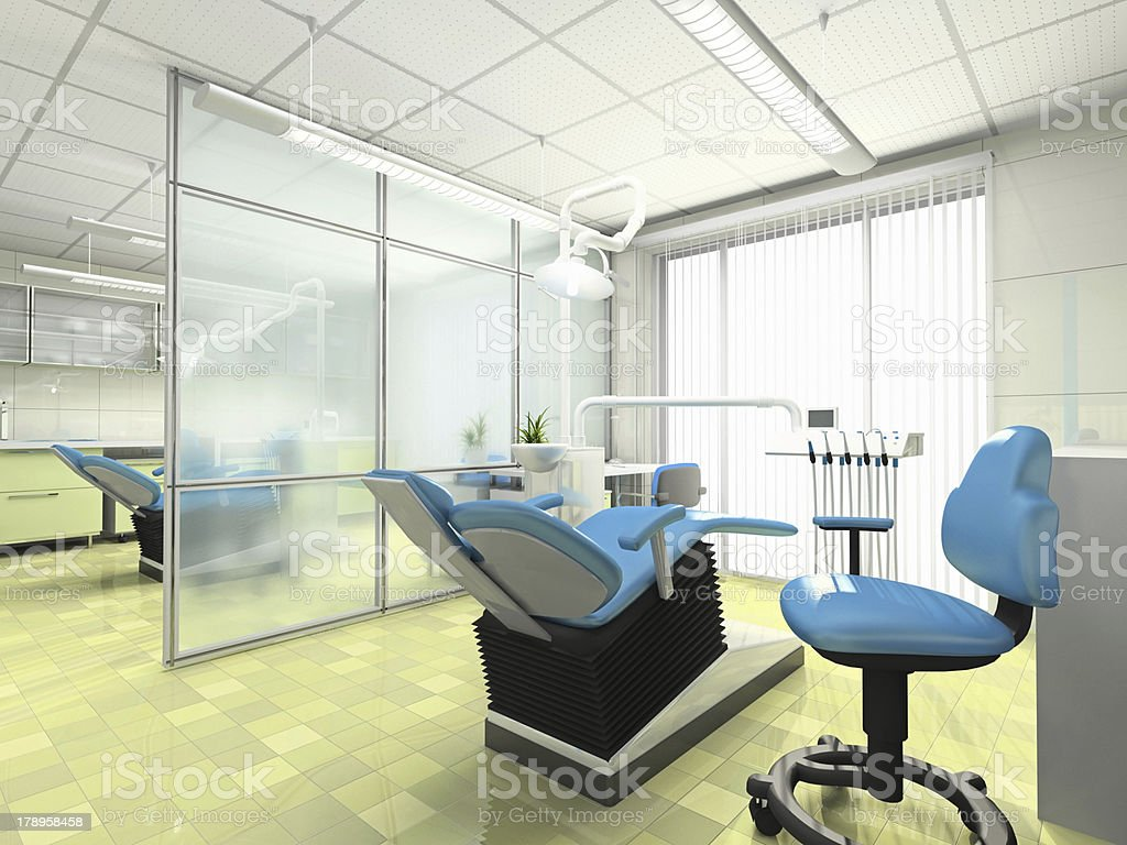 Interior of a stomatologic cabinet royalty-free stock photo