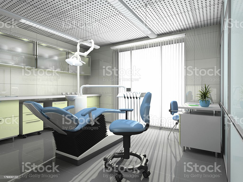 Interior of a stomatologic cabinet stock photo