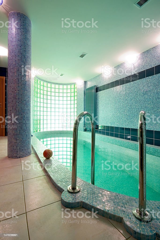 Interior of a swimming pool royalty-free stock photo