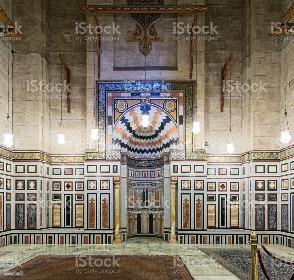 Interior of Al Rifaii Mosque, Cairo, Egypt stock photo