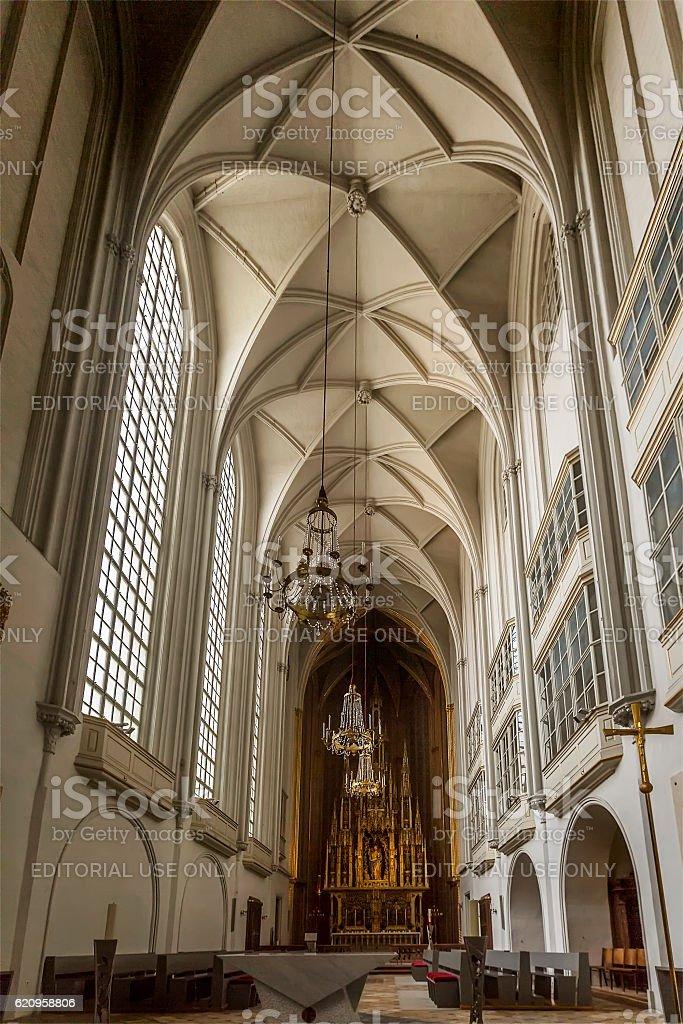 Interior of Augustinian Church (Augustinerkirche ) in Vienna stock photo