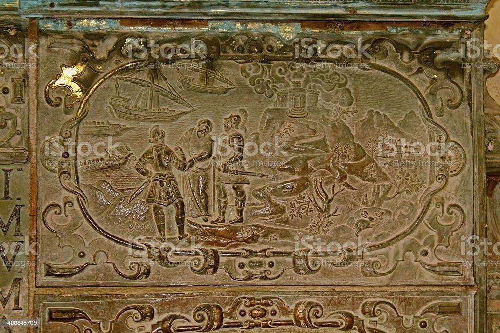 Interior of Basilica Bom Jesus (b.1605) royalty-free stock photo