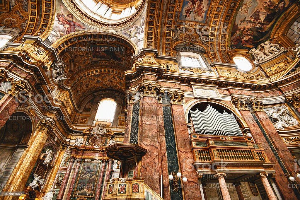Interior of Basilica dei SS. Ambrogio e Carlo royalty-free stock photo