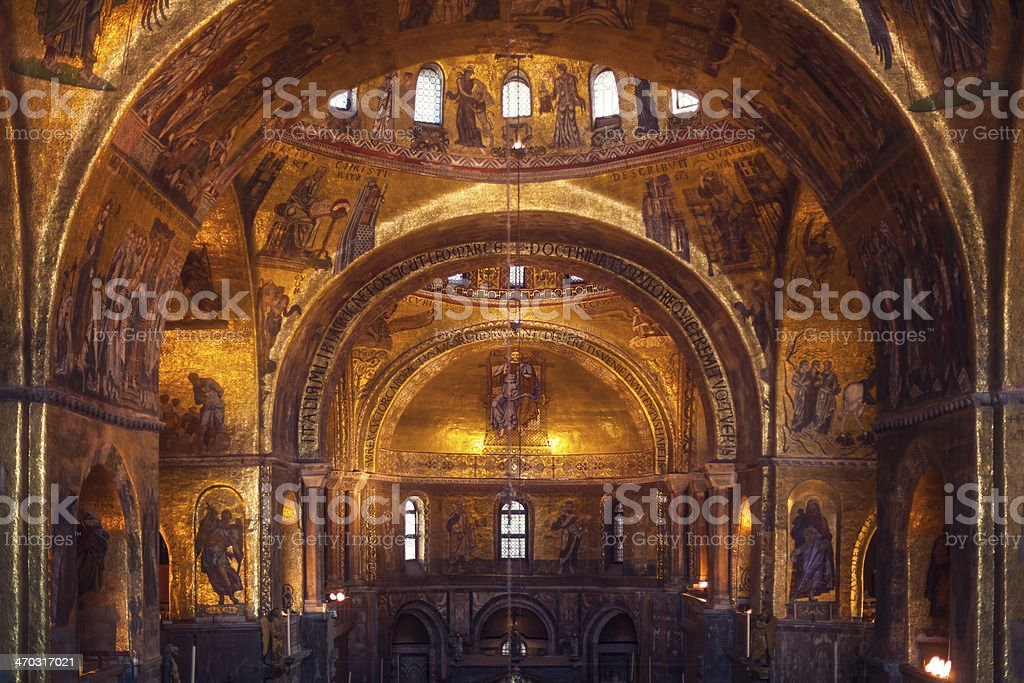 Interior of Basilica di San Marco, Venice, Italy royalty-free stock photo