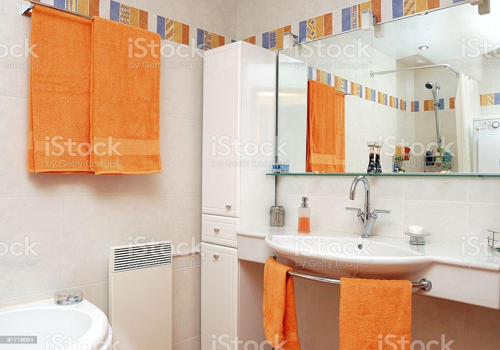 Interior of bath room royalty-free stock photo