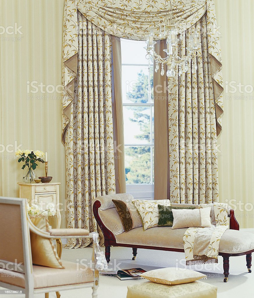 Interior of beautiful classical living room royalty-free stock photo