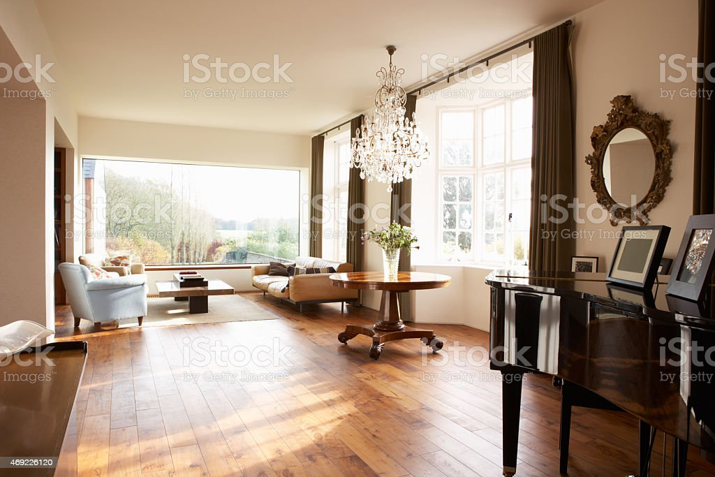 Interior Of Beautiful Contemporary Lounge stock photo