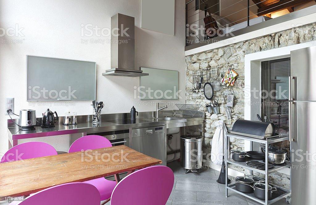 interior of beauty house stock photo