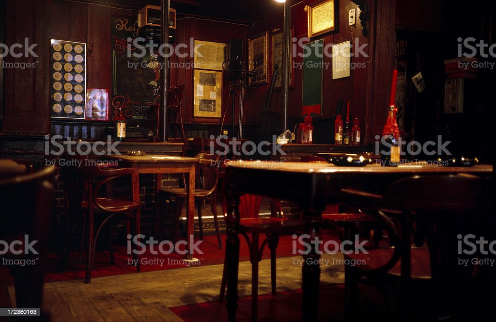 Interior of cafe in Amsterdam royalty-free stock photo