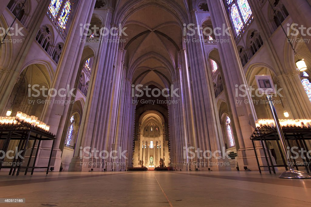 Interior of Cathedral Saint John the Divine stock photo