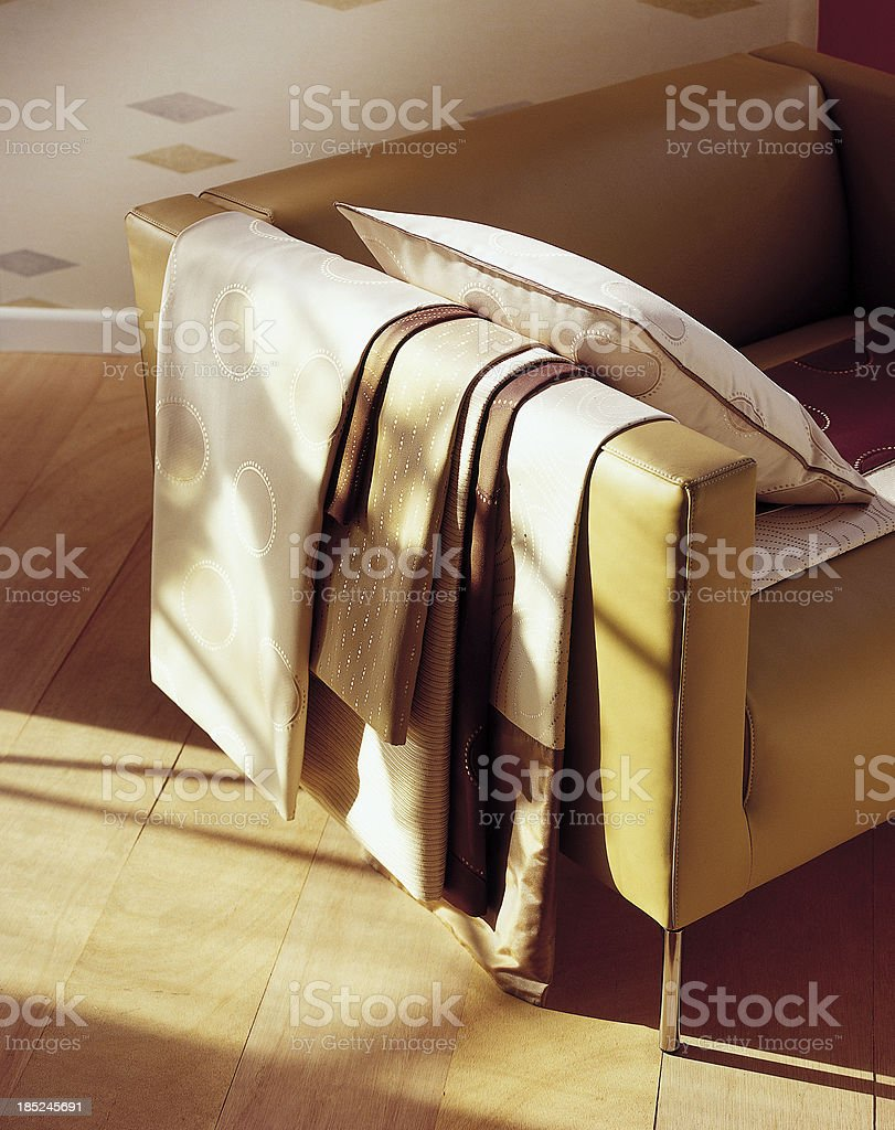 Interior of chair in living room royalty-free stock photo