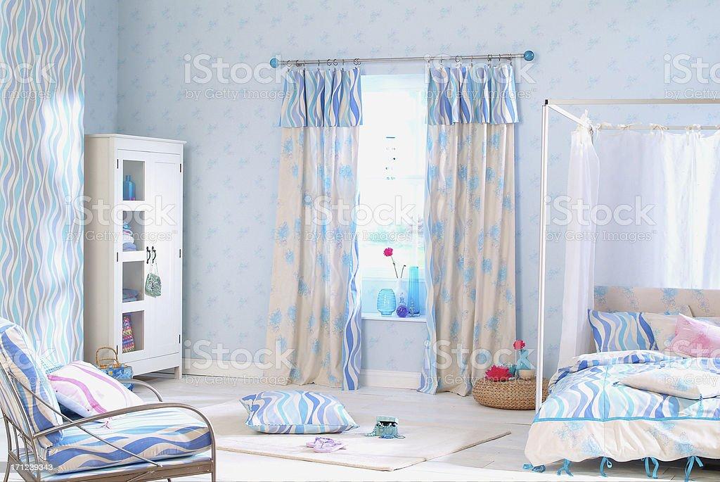 Interior of childrens bedroom stock photo