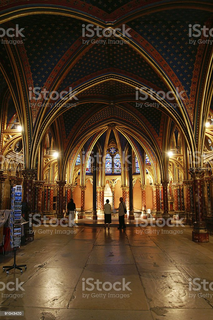 interior of church stock photo