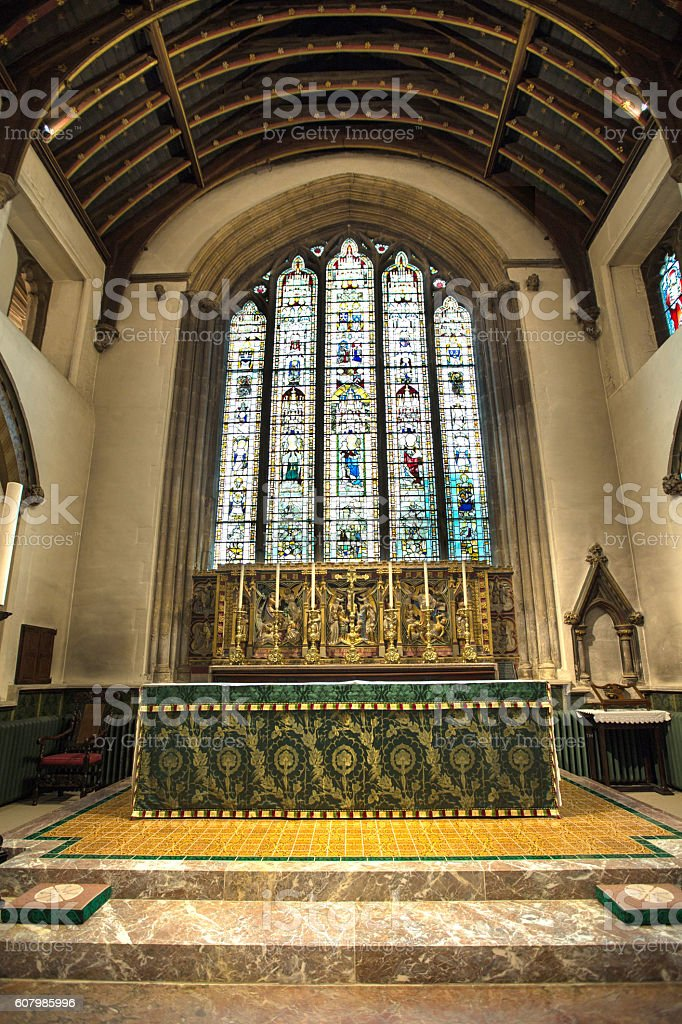 Interior of Cirencester St John the Baptist Parish Church stock photo
