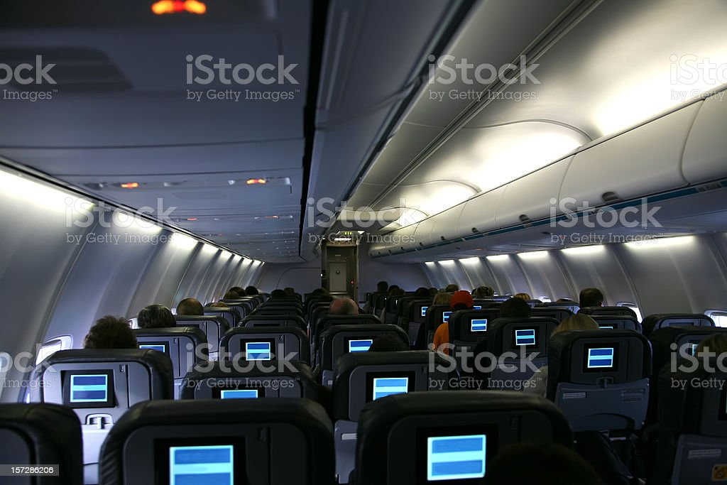 Interior Of Commercial Passenger Jet royalty-free stock photo