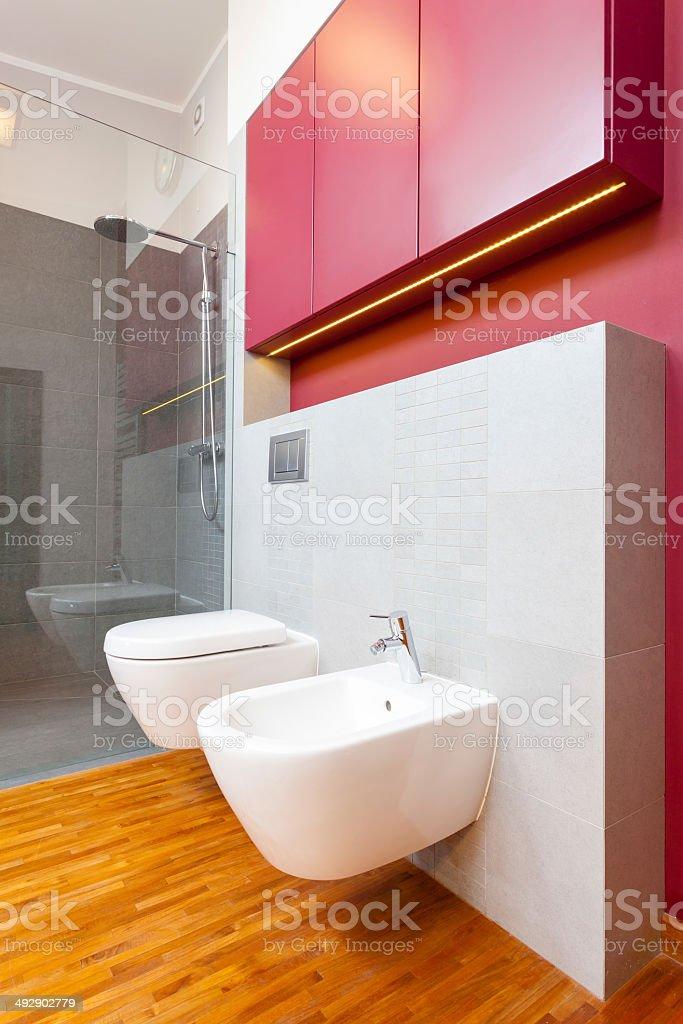 Interior of contemporary bathroom stock photo