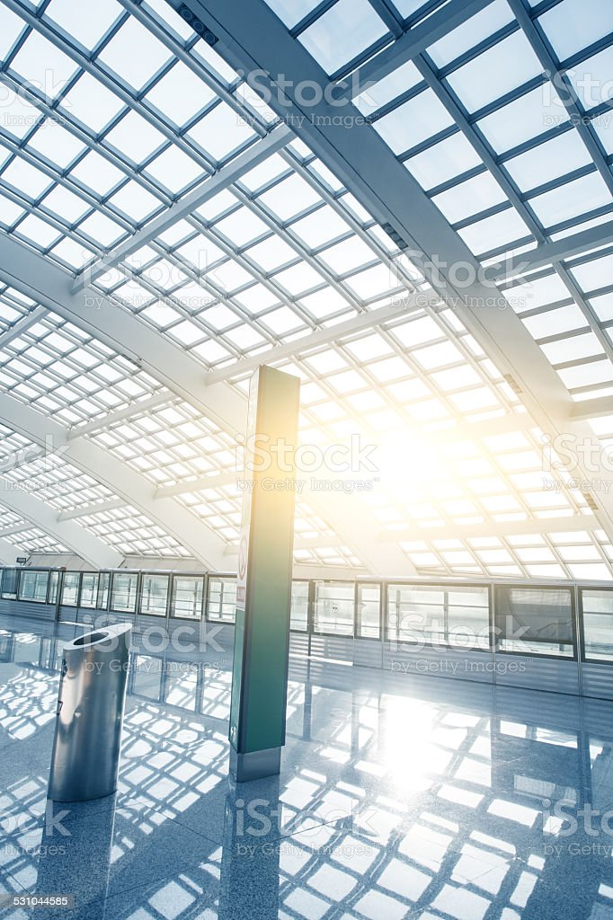 Interior of Contemporary Building stock photo