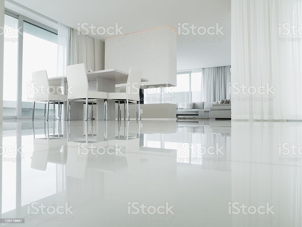 Interior of Dining Room of Luxury house stock photo