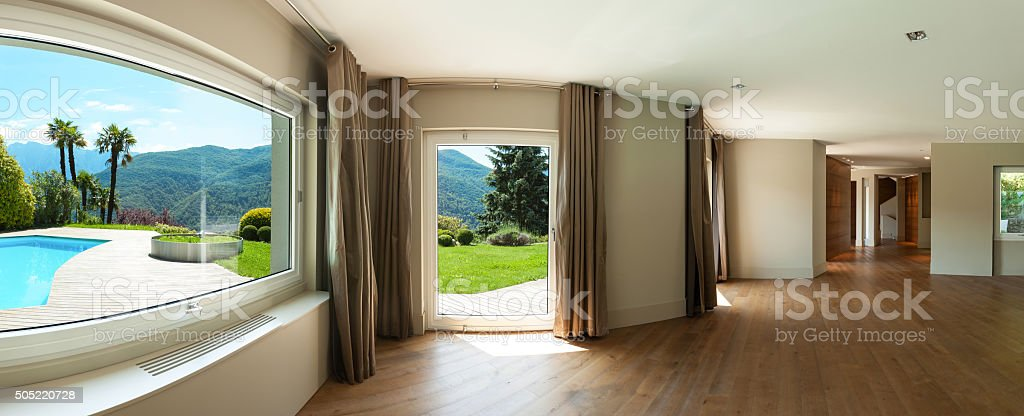 Interior of empty house stock photo