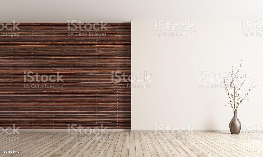 Interior of empty room background 3d render stock photo