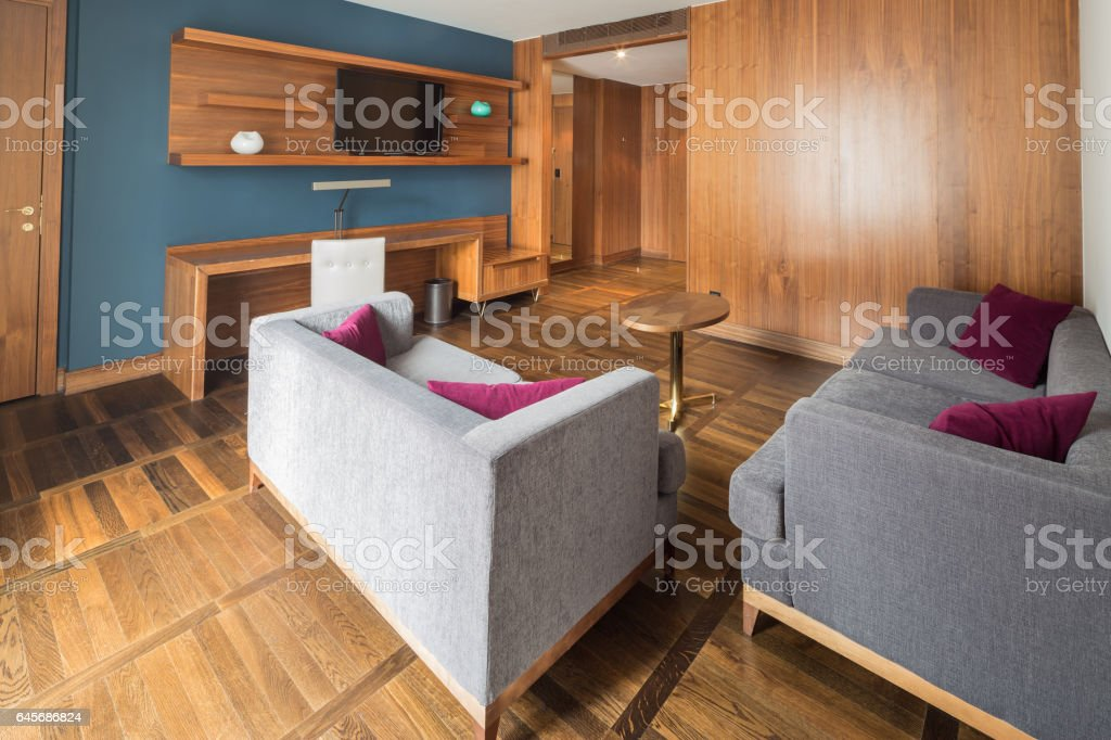 Interior of exclusive apartment in modern style stock photo