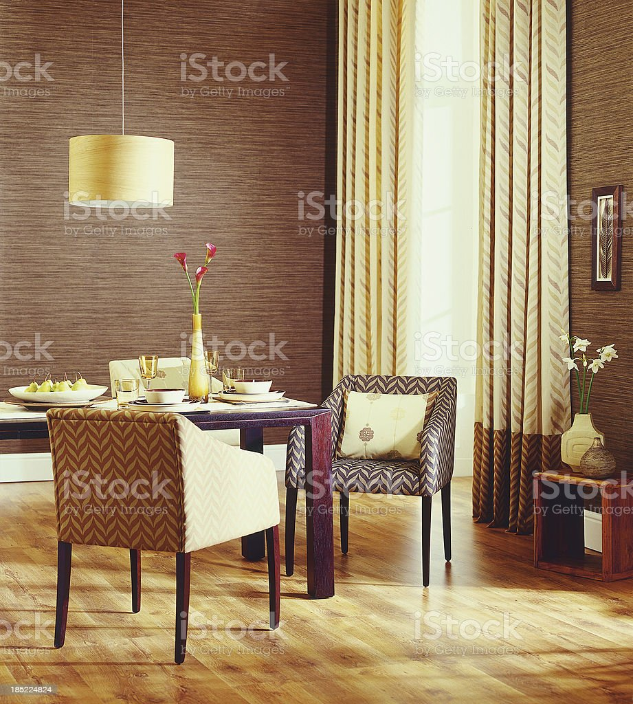 Interior of Family Traditional dining room. royalty-free stock photo