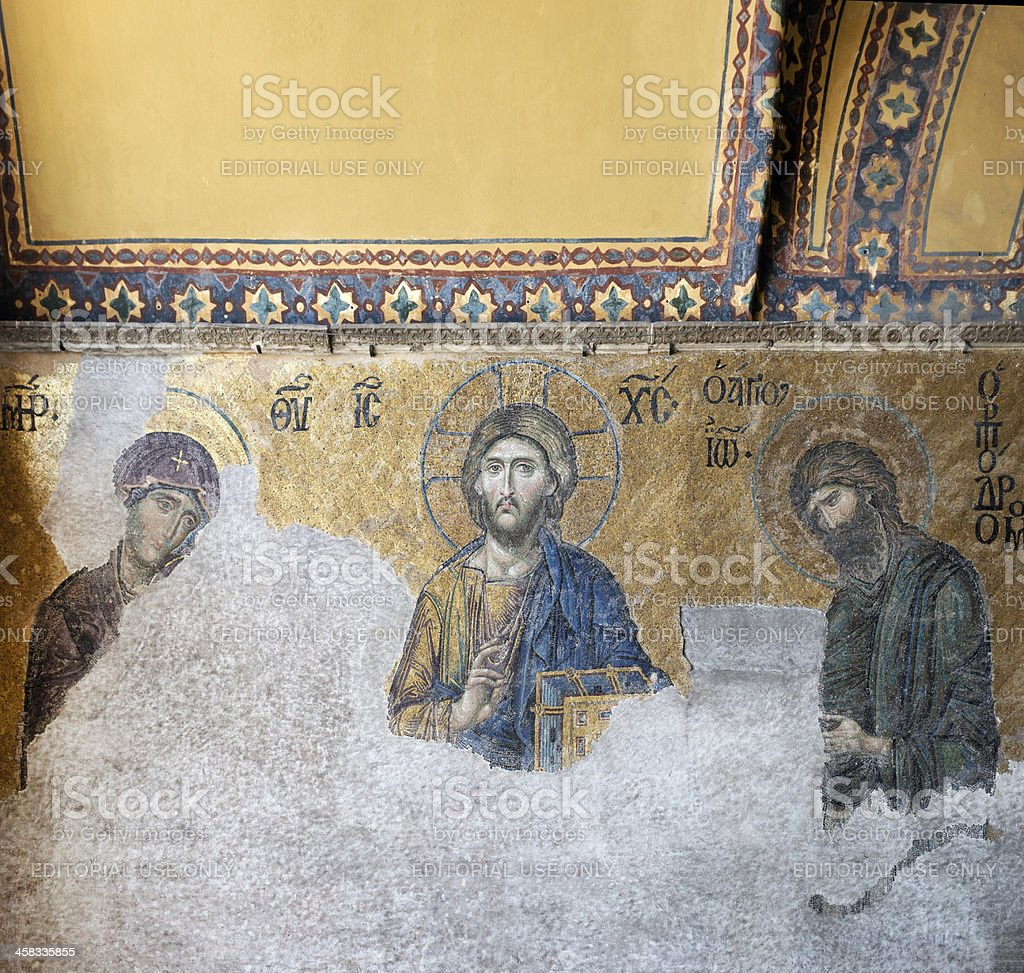 interior of Hagia Sophia in Istanbul royalty-free stock photo