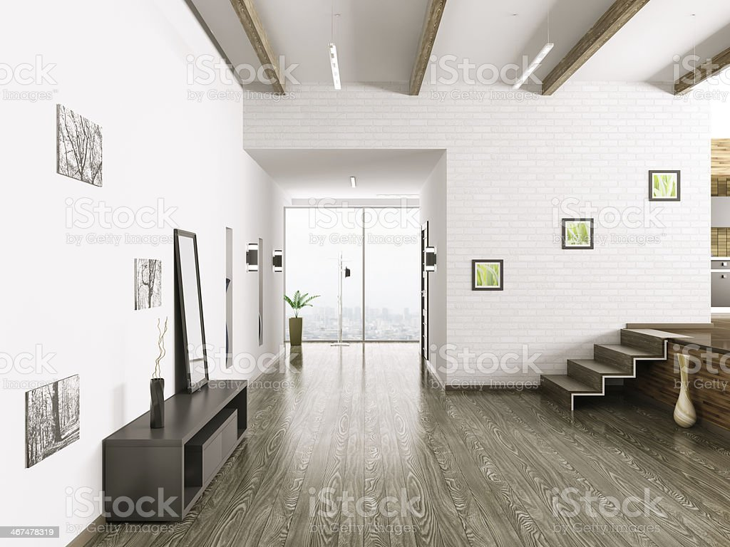 Interior of hall royalty-free stock photo