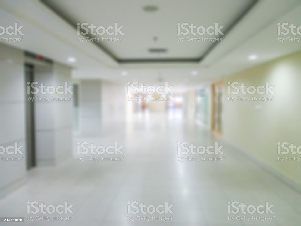 interior of hospital  blur image. stock photo