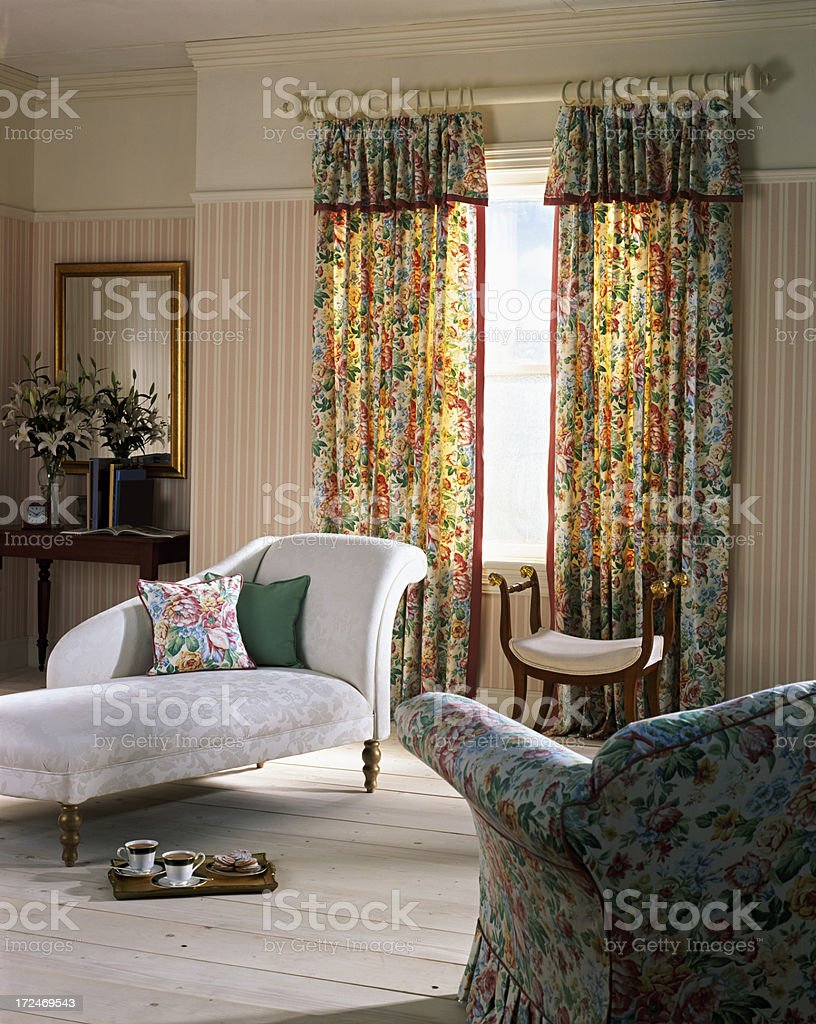 Interior of large living room royalty-free stock photo