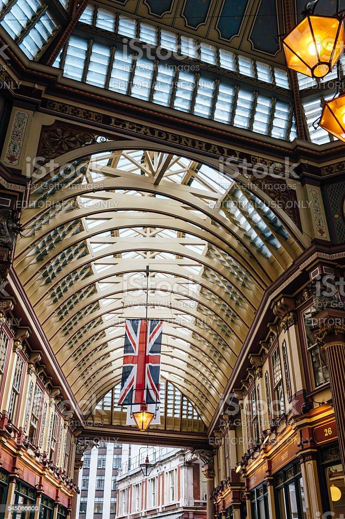 Interior of Leadenhall Market stock photo