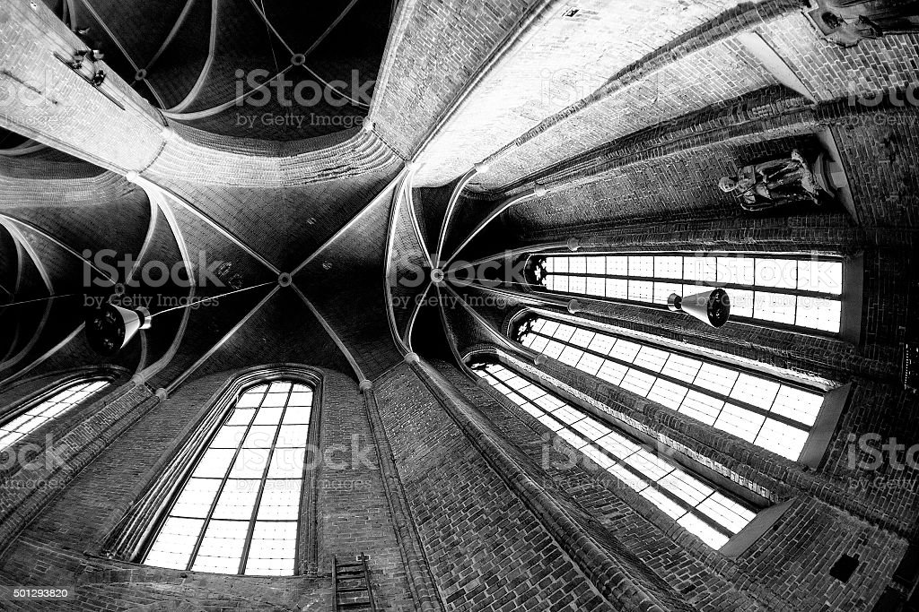 Interior of Lutheran Church Marktkirche in Hannover Germany stock photo
