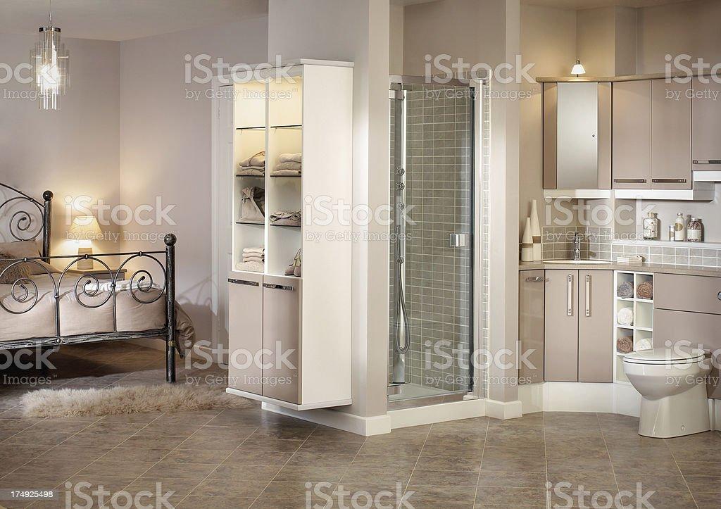 Interior of luxurious ensuite bathroom royalty-free stock photo