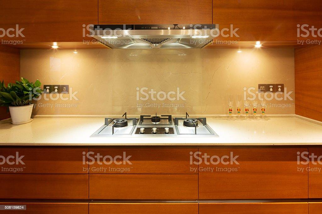 interior of luxury kitchen stock photo