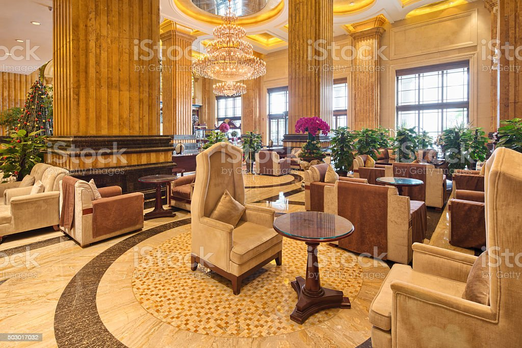 interior of luxury lounge stock photo
