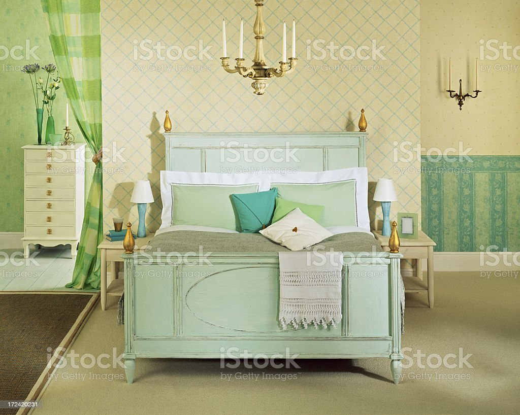 Interior of Master Bedroom royalty-free stock photo
