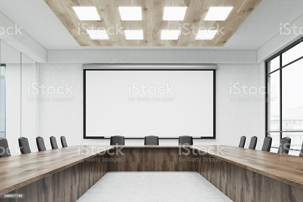 Interior of meeting room in office stock photo