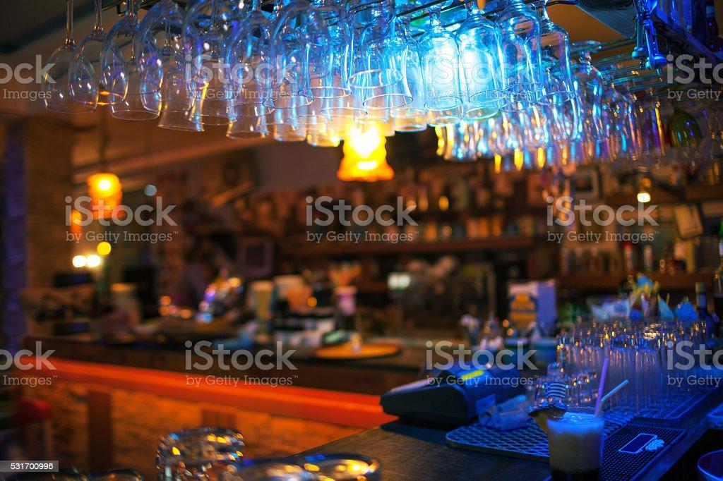 Interior of modern bar stock photo