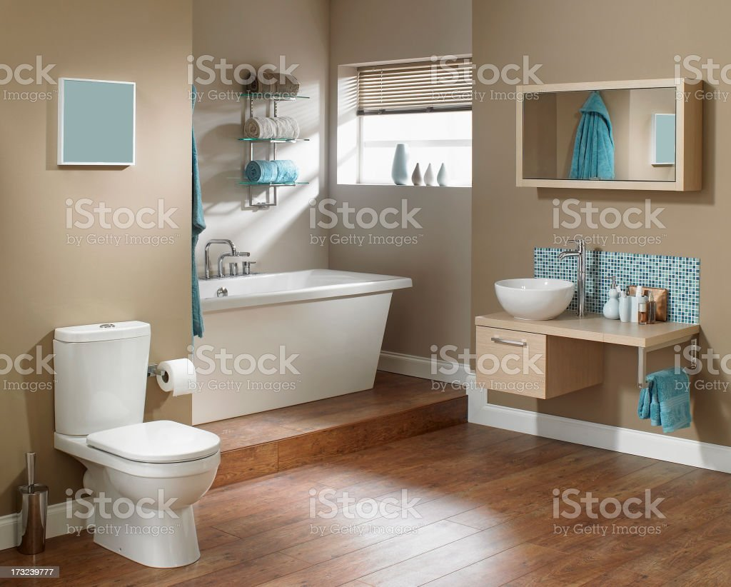 Interior of Modern bathroom royalty-free stock photo
