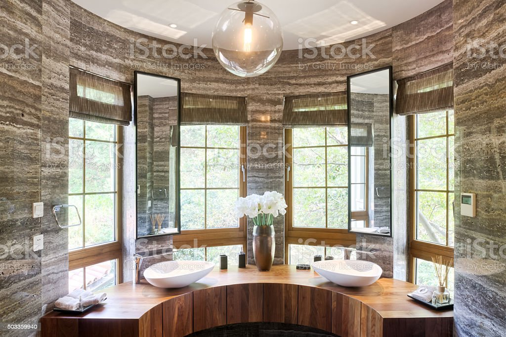 interior of modern bathroom stock photo