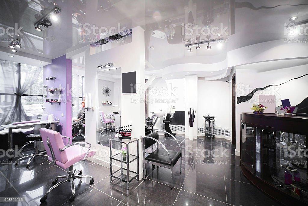 Interior Of Modern Beauty Salon Stock Photo 528725215 Istock
